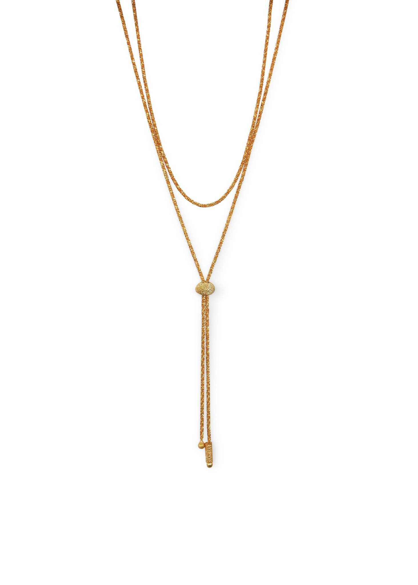 Janelle Khouri Sparkle Necklace, Gold