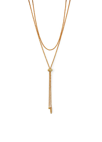 Janelle Khouri  |  Sparkle Two Way Necklace, Gold