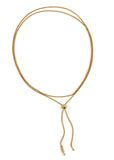 Janelle Khouri  |  Sparkle Two Way Necklace, Gold  SOLD OUT