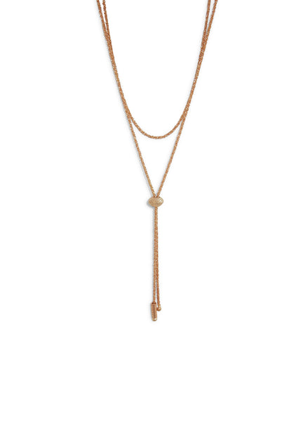 Janelle Khouri Sparkle Necklace, Rose Gold