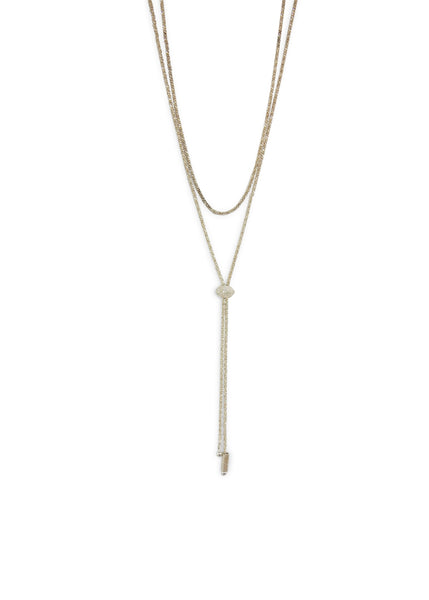 Janelle Khouri Sparkle Necklace, Silver
