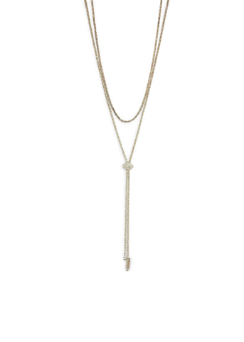 Janelle Khouri  |  Sparkle Two Way Necklace, Silver