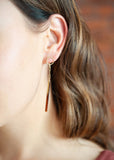 Joanna Bisley Derby Earrings Brown Sugar or Mink Grey