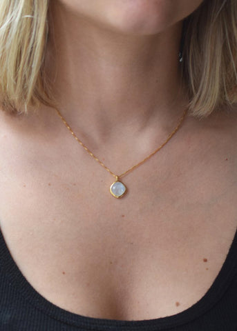 La Kaiser Moonstone Eclipse Pendant Necklace