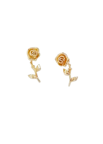 La Kaiser  |  Forever Rose Studs, Solid Gold SOLD OUT
