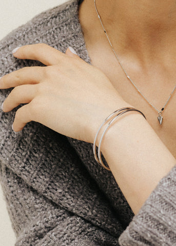 Lover's Tempo Mazi Bangle Silver