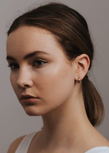 Silver Hoop Earrings Lover's Tempo Silvia Hoops