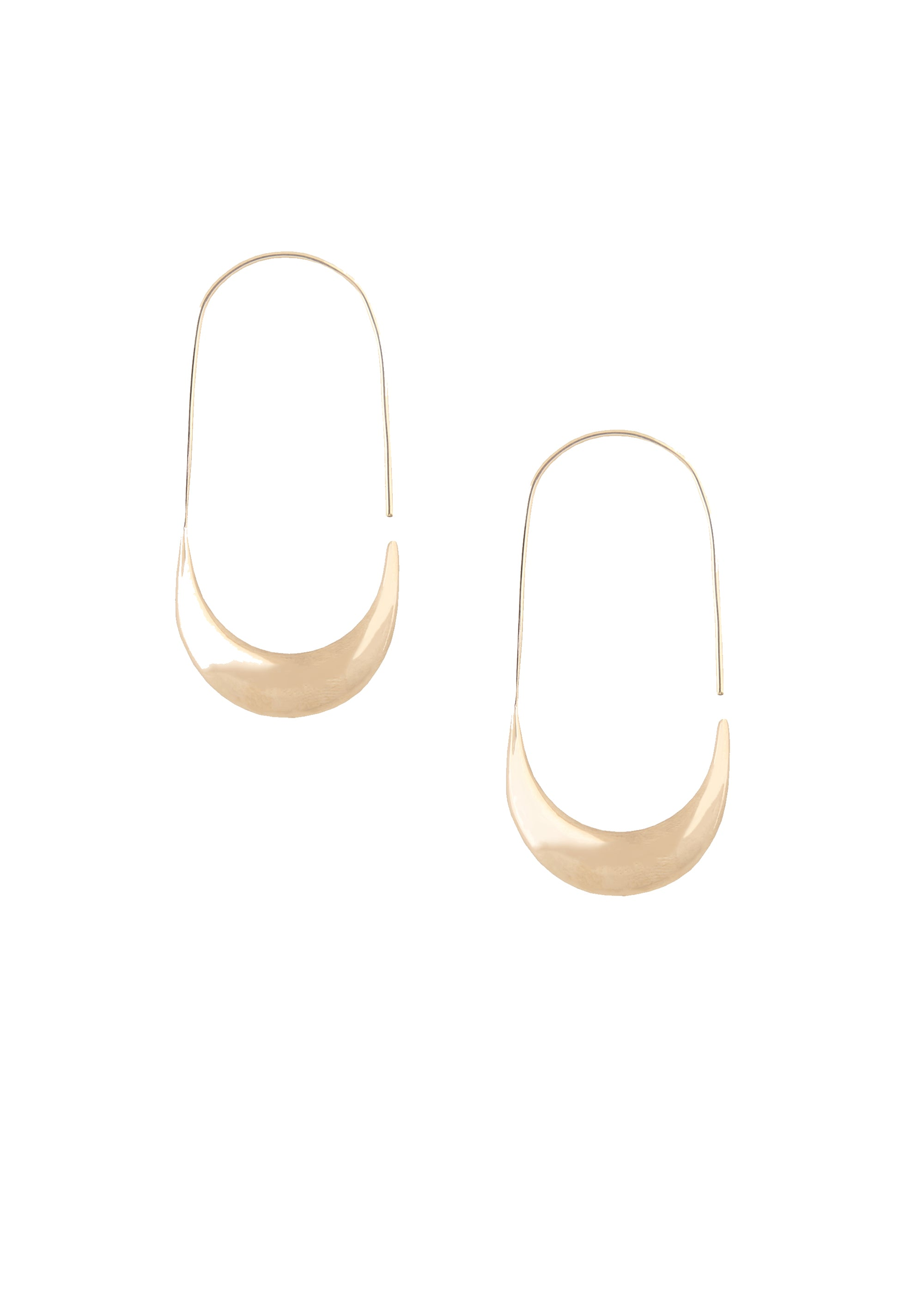 soko mezi large hoop earring gold handcrafted