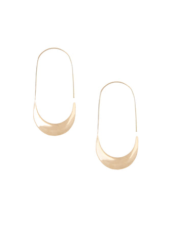 Soko  |  Mezi Large Hoop Earrings, Gold