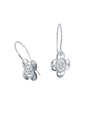 Sophie Deschamps  |  Clover Earrings, Silver or Gold