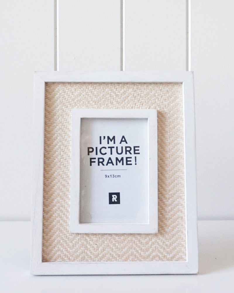 Photo Frame (Seaside Natural Rattan Small)  22x19cm