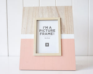 Photo Frame (timber Peach perfection Large) 27x22cm