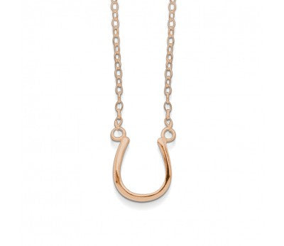 Horse Shoe Necklace (Rose Gold)