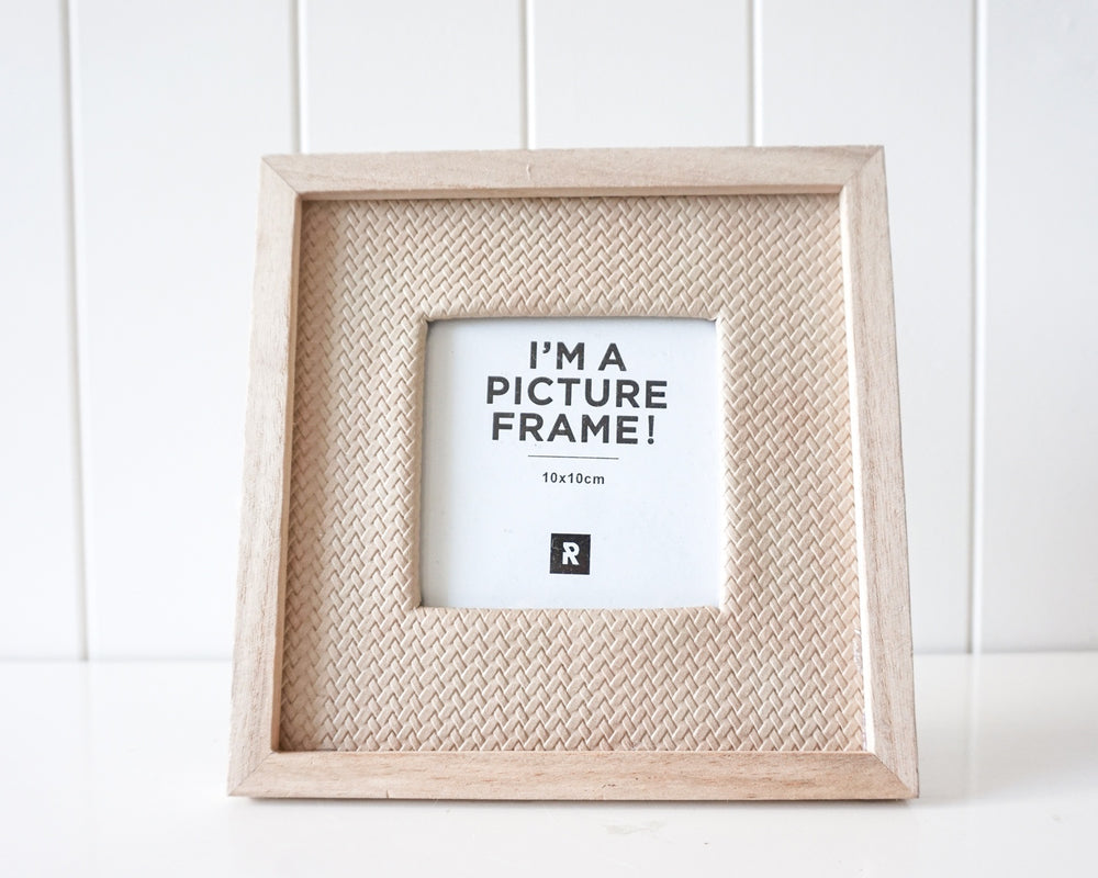 Photo Frame (coastal rattan small) 19x19cm
