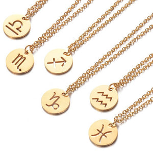 Load image into Gallery viewer, Pisces Necklace (gold)
