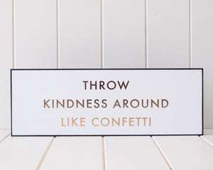 Load image into Gallery viewer, Kindness Confetti (Gold Foil on White - 40x14)