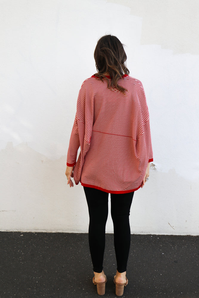 Franklin Striped Knit (red & white)