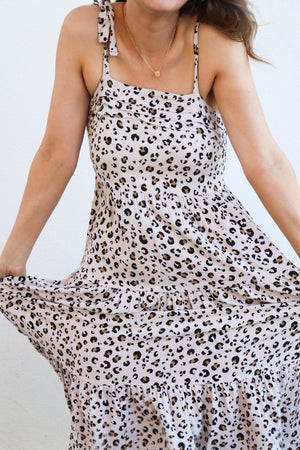 Load image into Gallery viewer, Hindey Maxi Dress (Leopard)