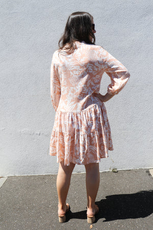 Load image into Gallery viewer, Cabana Dress (peach)