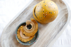 Terrazzo Dome Keepsake Box (golden)