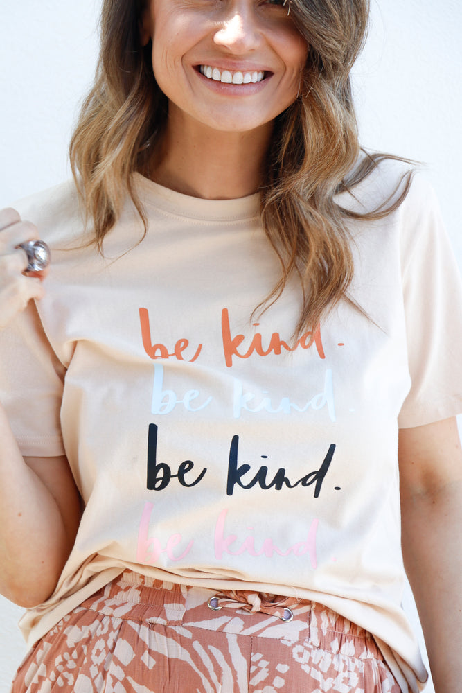 Load image into Gallery viewer, Be Kind Tee (Sand)