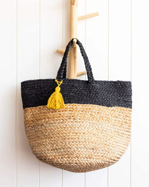 Load image into Gallery viewer, Aarushi Bag Charcoal Jute - 30x45