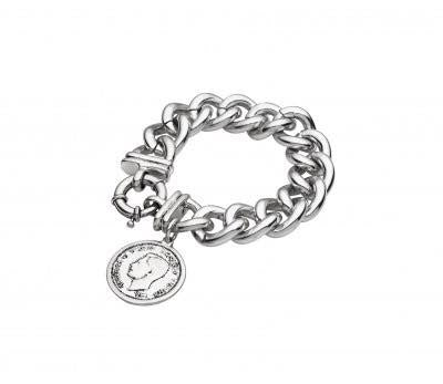 Chain Bracelet with coin (silver)