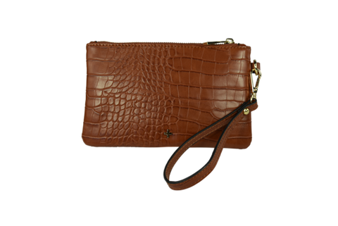 Peta and Jain Bella Pouch (tan croc)