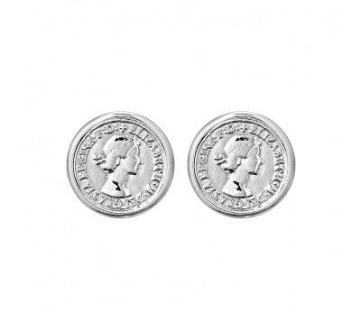 Coin Earring Silver (clip-on)