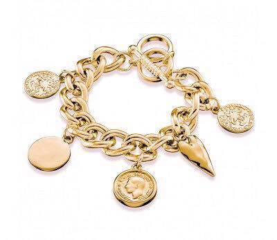 Chain Bracelet with Charms (gold)