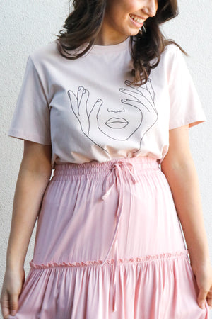 Load image into Gallery viewer, Face Tee (Blush)