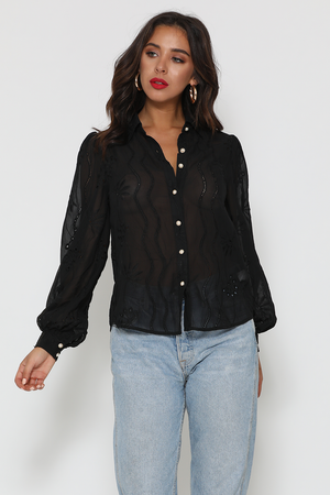 Load image into Gallery viewer, Elise Blouse (Black)