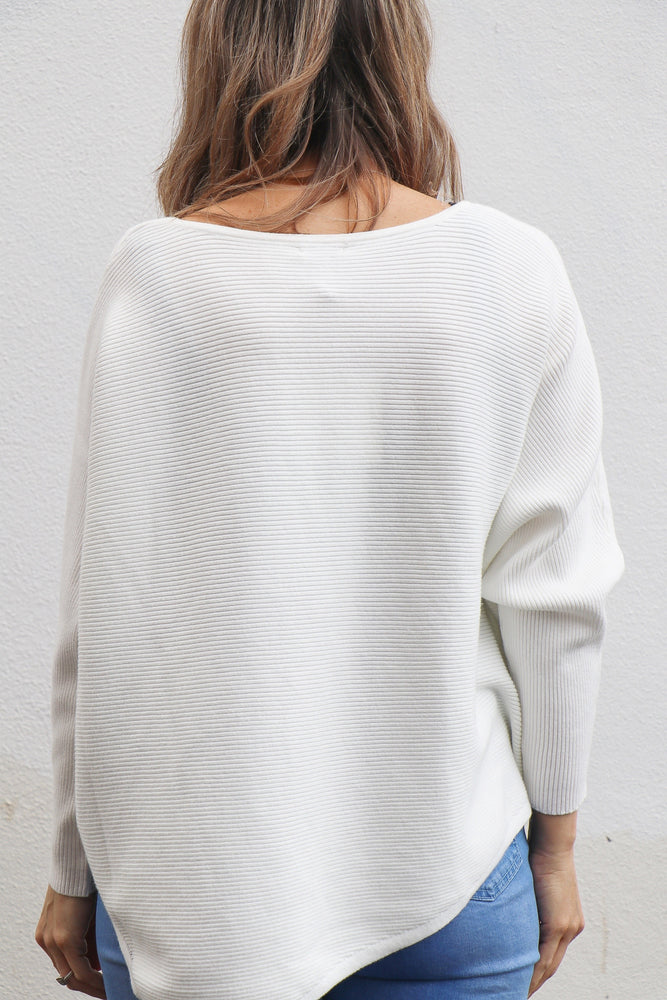 Ronson Knit Top (white)
