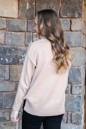 Wesson Roll Neck Top (sand)