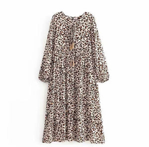 Load image into Gallery viewer, Maggie Dress (leopard)