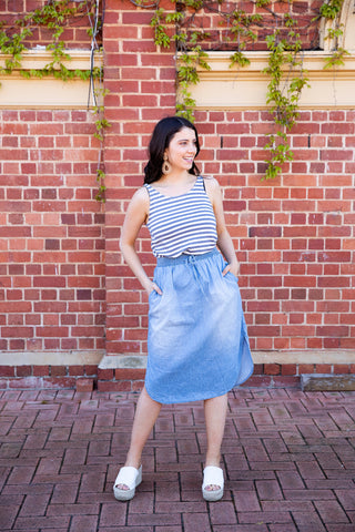 Ace Chambray Skirt