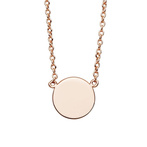 Small Disc Necklace Rose Gold