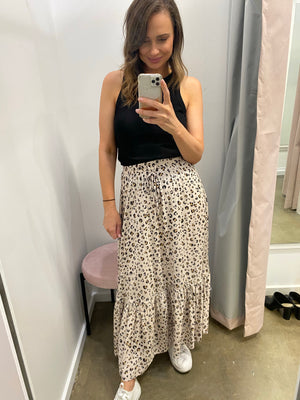 Load image into Gallery viewer, Hindey Maxi Skirt (Leopard)