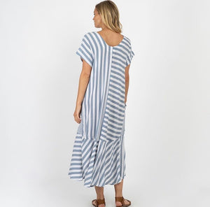 Salt Dress (blue & white stripes)