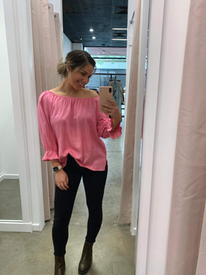 Tanner Top (hot pink)