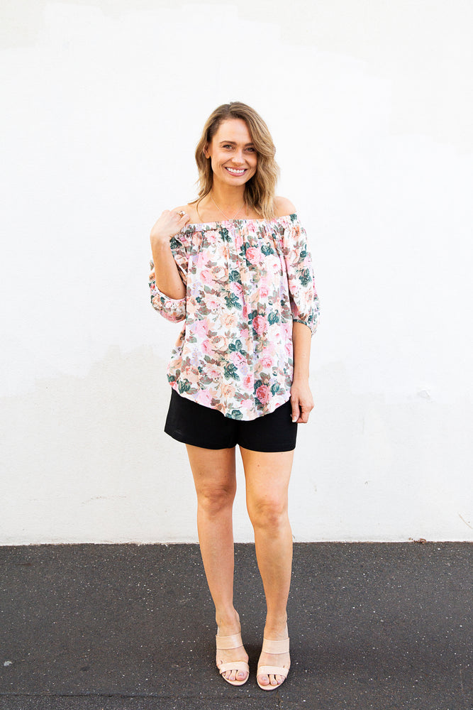 Load image into Gallery viewer, Rose' Top (rose print)