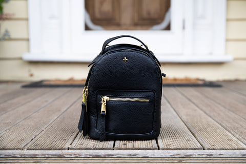 Peta and Jain Zoe Backpack (Black Croc)