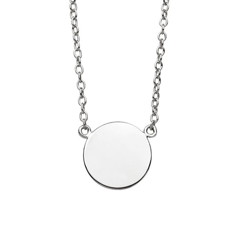 Small Disc Necklace Silver