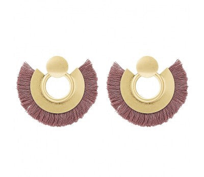 Lorlor Fringed Earrings (purple)