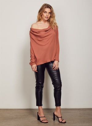 Wish Lustre Blouse (Brick)