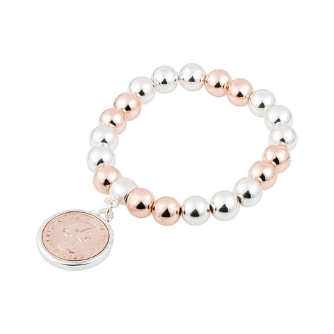 Soho Style Picks Silver & Rose Gold Bracelet