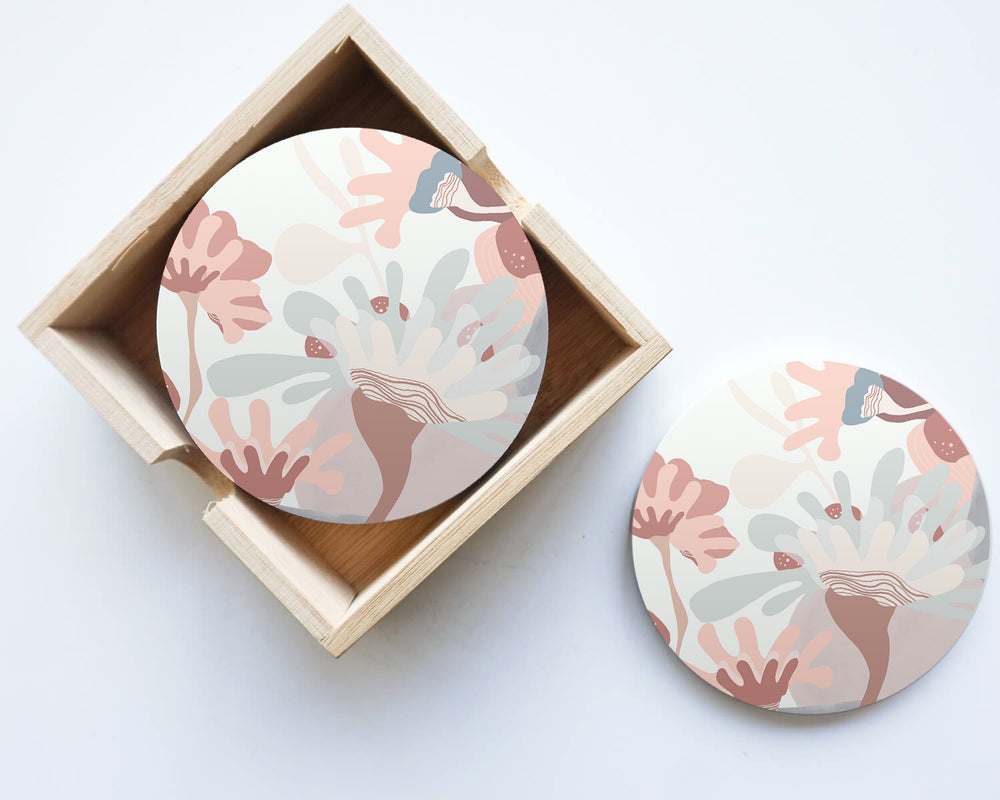 Manuka #3 Ceramic Coaster (set of 4)
