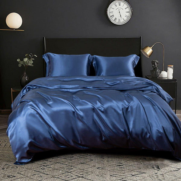 NTBAY 100% Mulberry Silk Duvet Cover Set, Both Side 19 Momme Pure Natural Silk