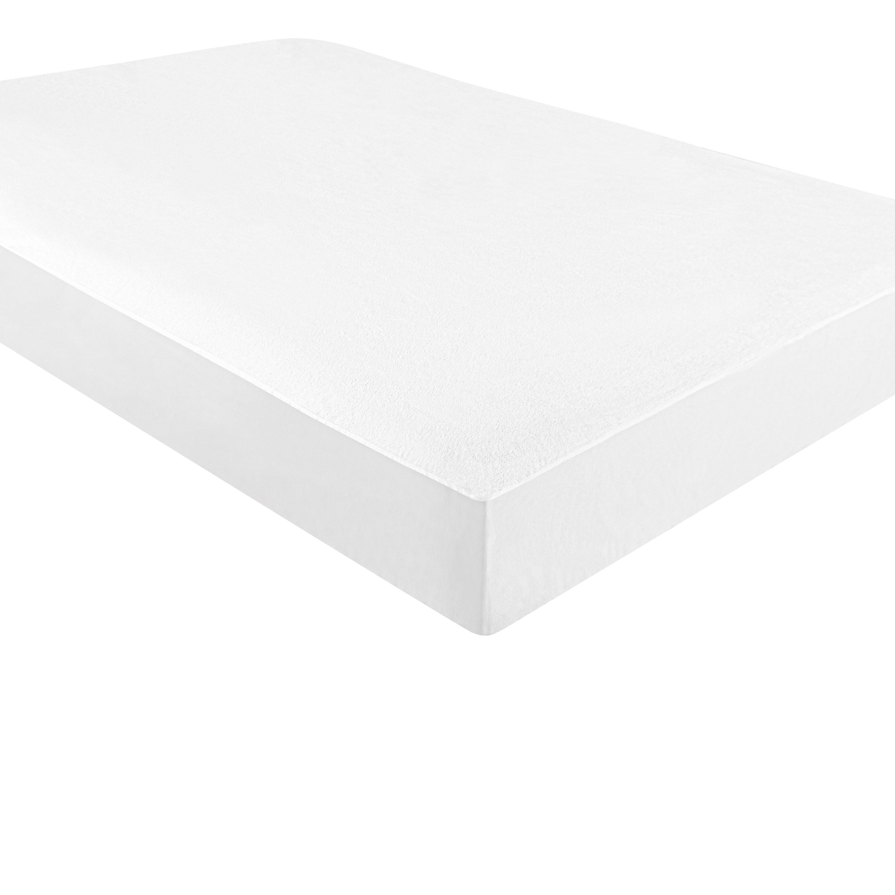 NTBAY Cotton Terry Waterproof Mattress Protector, Hypoallergenic and Breathable Mattress Pad Cover with Deep Pocket