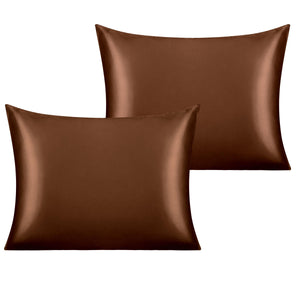 NTBAY 2 Pack Satin Pillowcases for Hair and Skin, Luxurious and Silky Pillow Cases with Envelope Closure